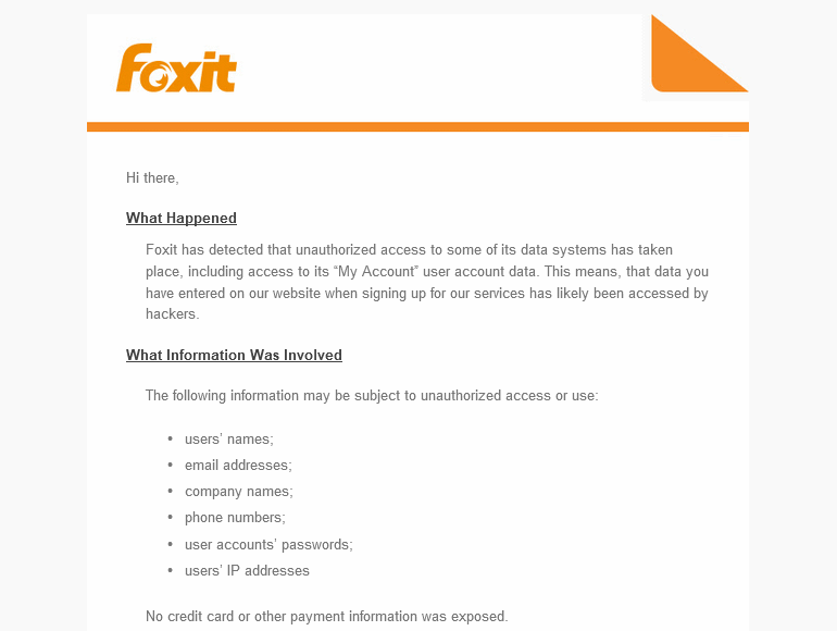 Foxit Software Email